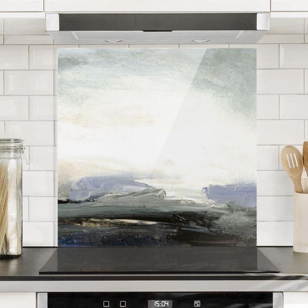 Glas Spritzschutz - Horizont bei Tagesanbruch - Quadrat - 1:1