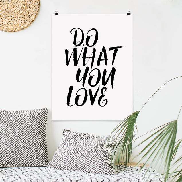 Poster - Do what you love - Hochformat 3:4