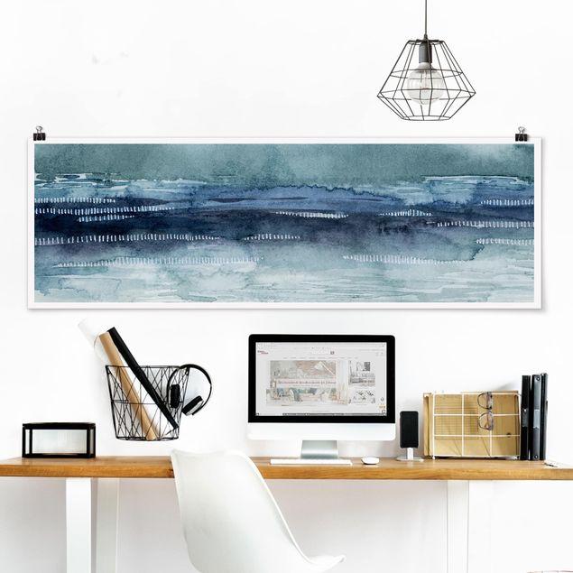 Poster - Mariner Nebel I - Panorama Querformat