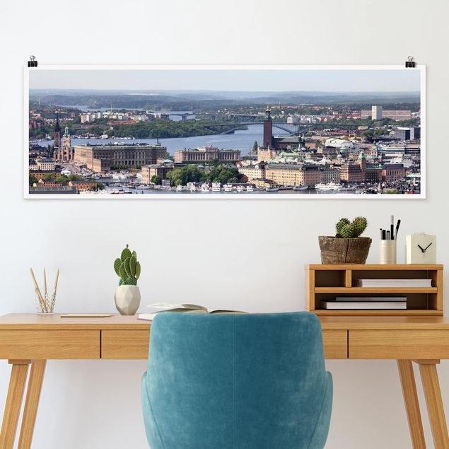 Poster - Stockholm City - Panorama Querformat