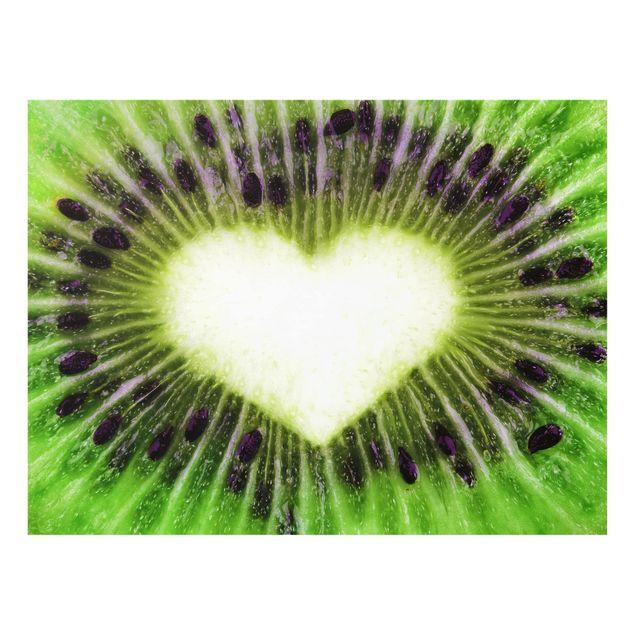 Glas Spritzschutz - Kiwi Love - Querformat - 4:3