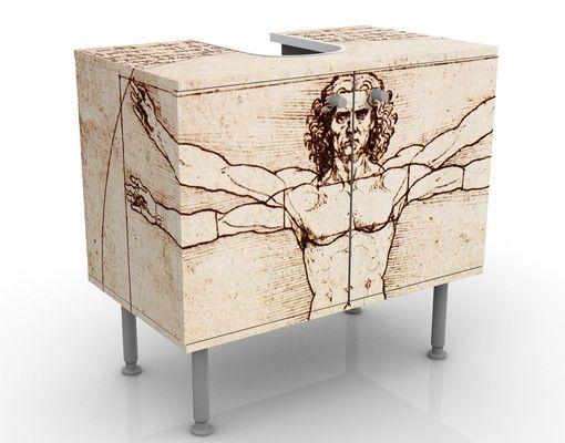 Waschbeckenunterschrank - Da Vinci - Badschrank Beige Braun
