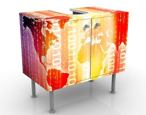 Waschbeckenunterschrank - Digital World - Badschrank Orange