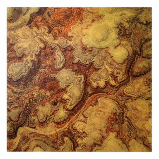 Leinwandbild Gold - Farbenpracht von Utah - Quadrat 1:1