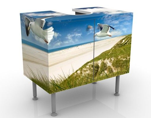 Waschbeckenunterschrank - Dune Breeze - Maritim Badschrank Blau
