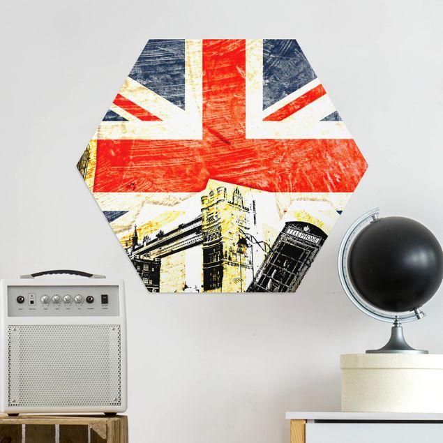 Hexagon Bild Alu-Dibond - This is London!