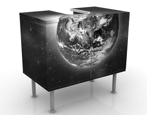 Waschbeckenunterschrank - Weltall II - Badschrank Schwarz