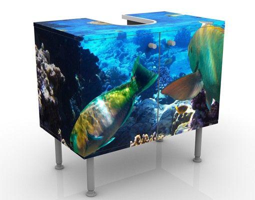 Waschbeckenunterschrank - Underwater Dreams - Badschrank Bunt