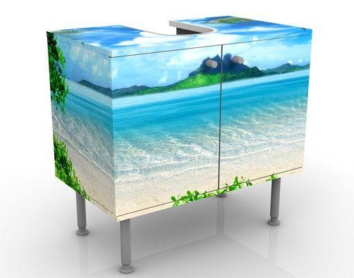 Waschbeckenunterschrank - Traumurlaub - Badschrank Blau