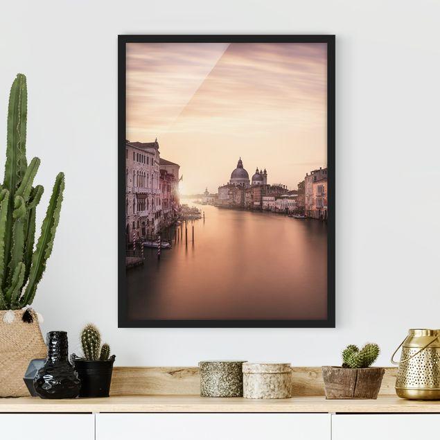 Bild mit Rahmen - Abendstimmung in Venedig - Hochformat 3:4
