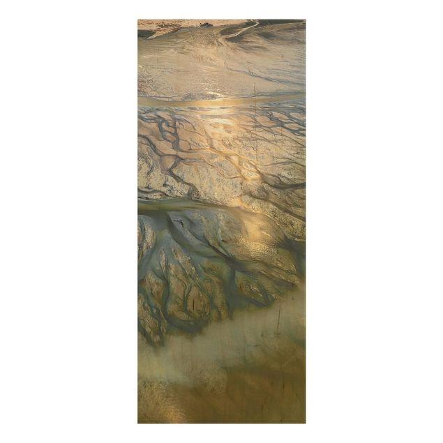 Holzbild - Küste in Kuwait - Panel