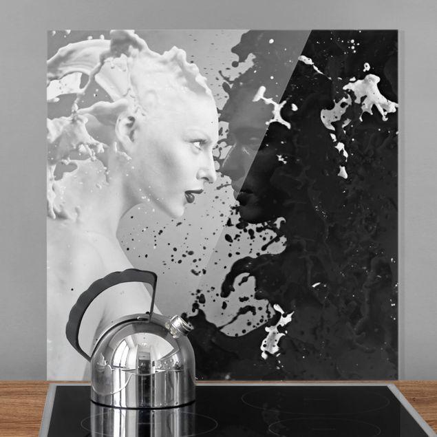 Glas Spritzschutz - Milk & Coffee II - Quadrat - 1:1