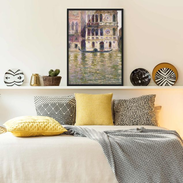 Bild mit Rahmen - Claude Monet - Palazzo Dario - Hochformat 3:4