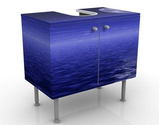 Waschbeckenunterschrank - Moon and Ocean - Badschrank Blau