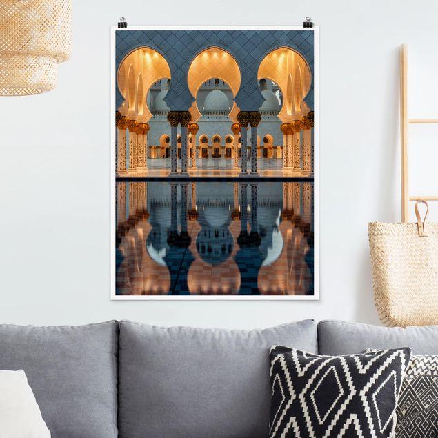 Poster - Reflexionen in der Moschee - Hochformat 3:4