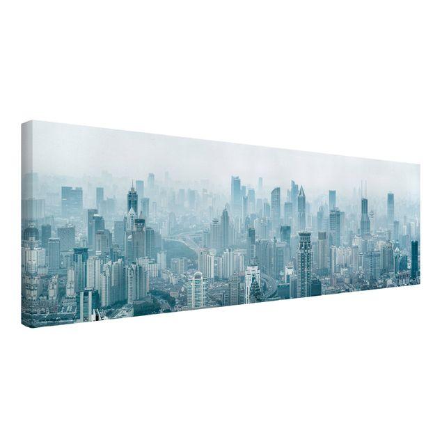 Leinwandbild - Kühles Shanghai - Panorama 3:1