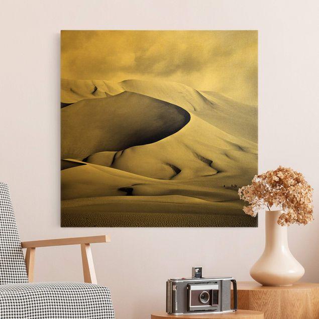 Leinwandbild Gold - Im Süden der Sahara - Quadrat 1:1