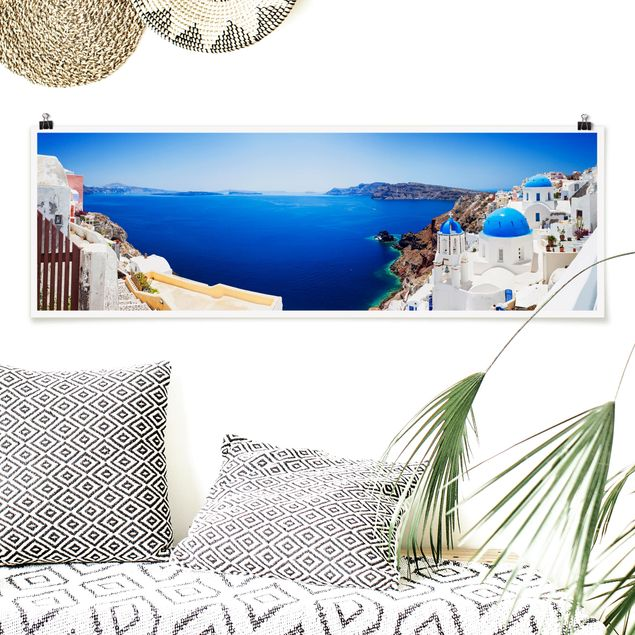 Poster - View Over Santorini - Panorama Querformat