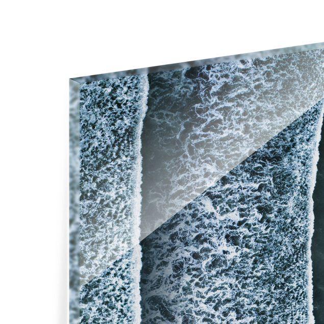 Glas Spritzschutz - Luftbild - Der Herausforderer - Quadrat - 1:1