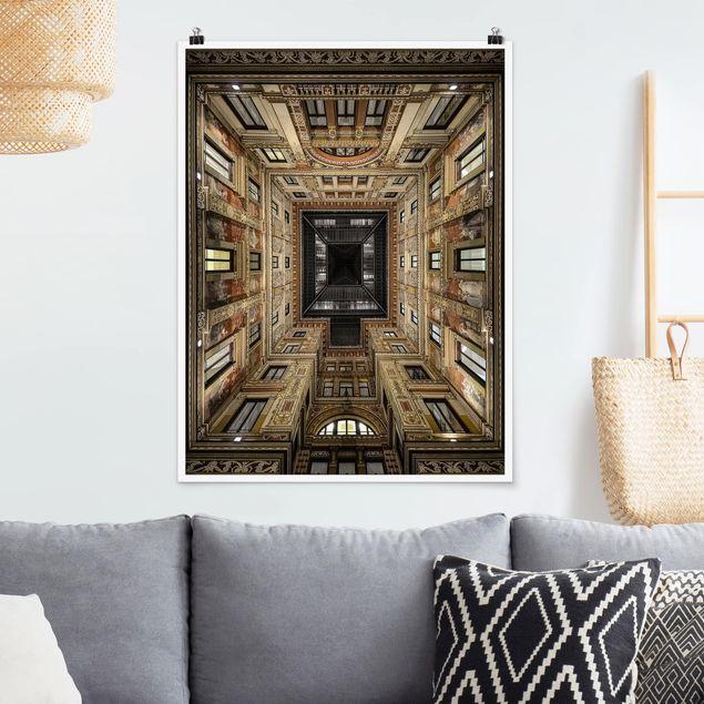 Poster - Galleria Sciarra in Rom - Hochformat 3:4