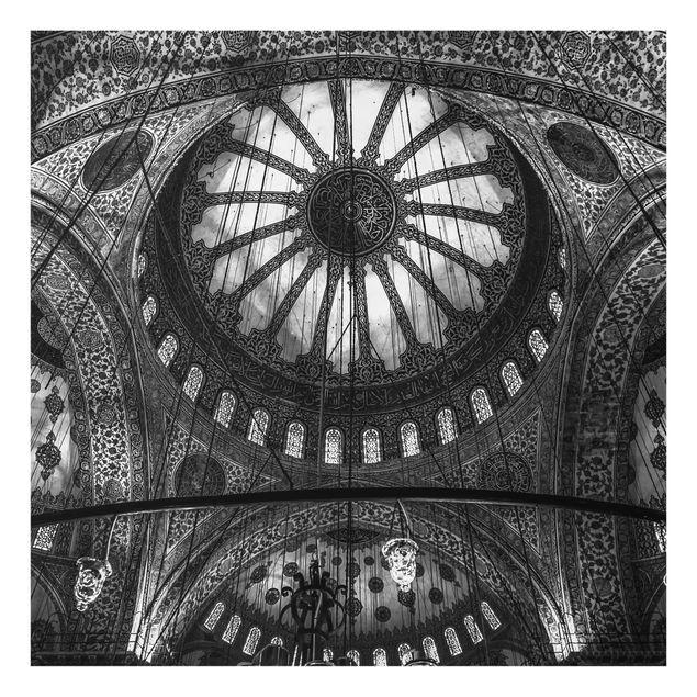 Glas Spritzschutz - Die Kuppeln der blauen Moschee - Quadrat - 1:1