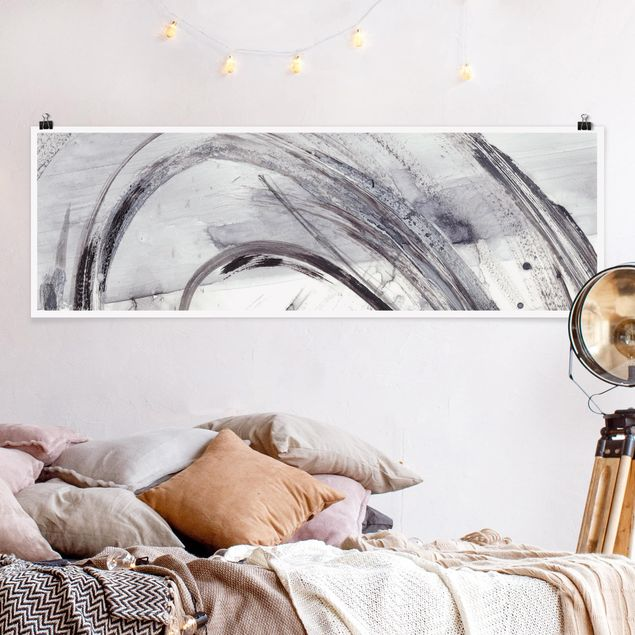 Poster - Sonar Schwarz Weiß II - Panorama Querformat