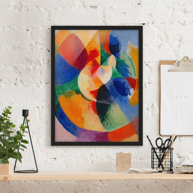 Bild mit Rahmen - Robert Delaunay - Kreisformen, Sonne - Hochformat 3:4