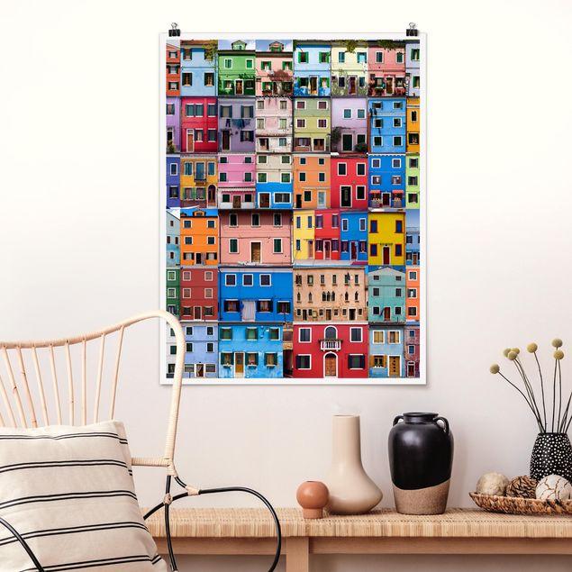 Poster - Venezianische Häuser - Hochformat 3:4