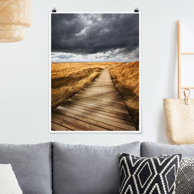 Poster - Weg in den Dünen - Hochformat 3:4