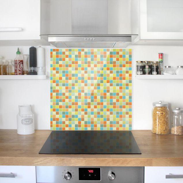 Glas Spritzschutz - Mosaikfliesen Sommerset - Quadrat - 1:1