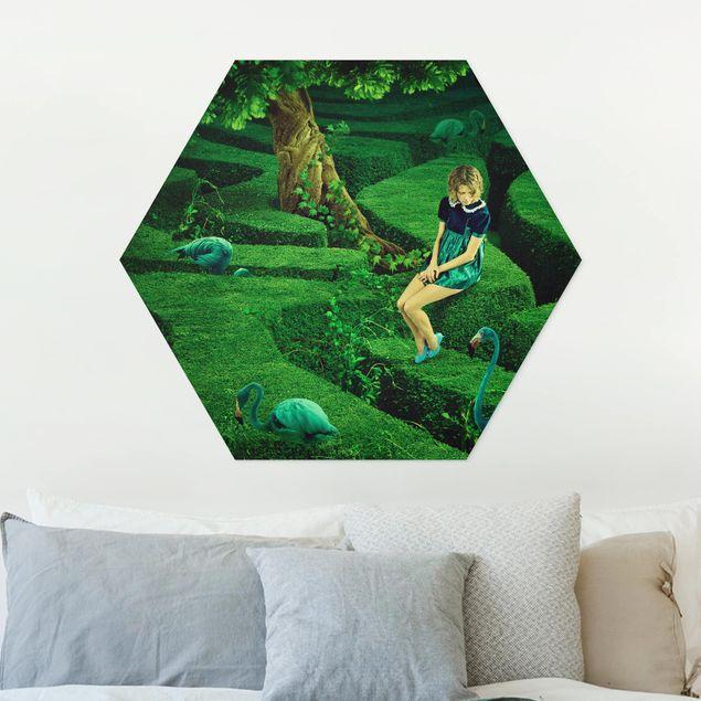 Hexagon Bild Forex - Frau im Labyrinth