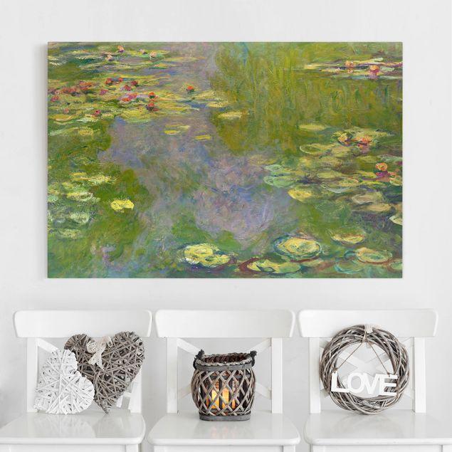 Leinwandbild - Claude Monet - Grüne Seerosen - Querformat 2:3