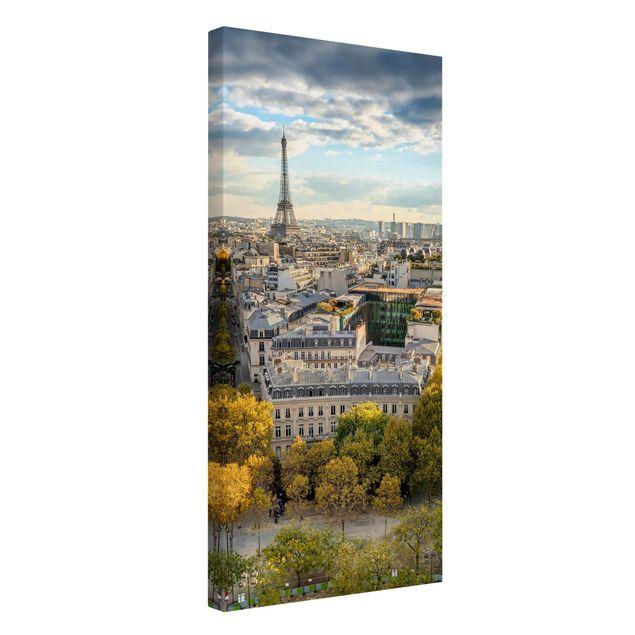 Leinwandbild - Nice day in Paris - Hochformat 1:2