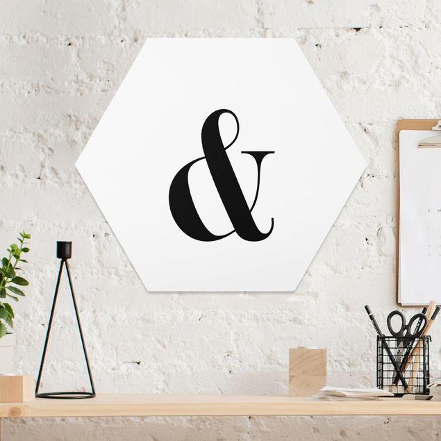 Hexagon Bild Forex - Buchstabe Serif Weiß &