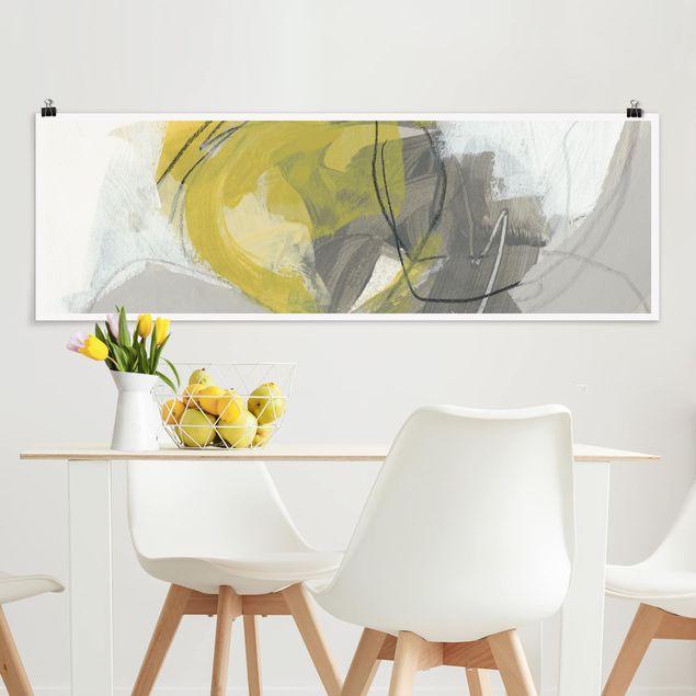 Poster - Zitronen im Nebel IV - Panorama Querformat