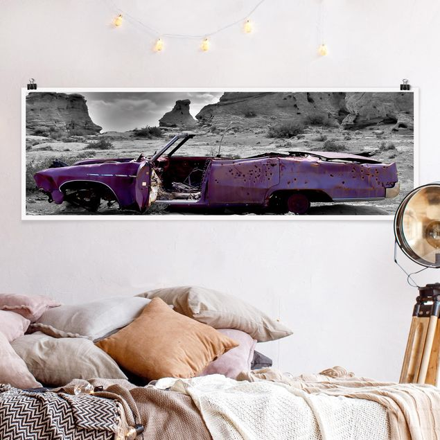 Poster - Pink Cadillac - Panorama Querformat