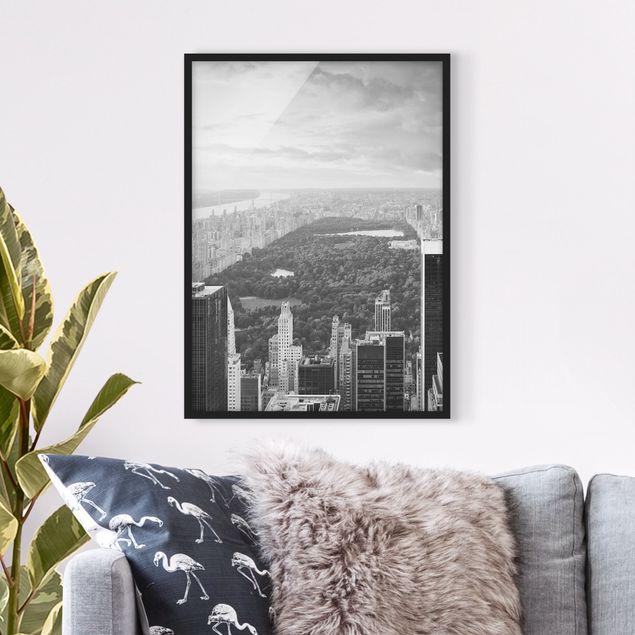 Bild mit Rahmen - Blick über den Central Park II - Hochformat 3:4