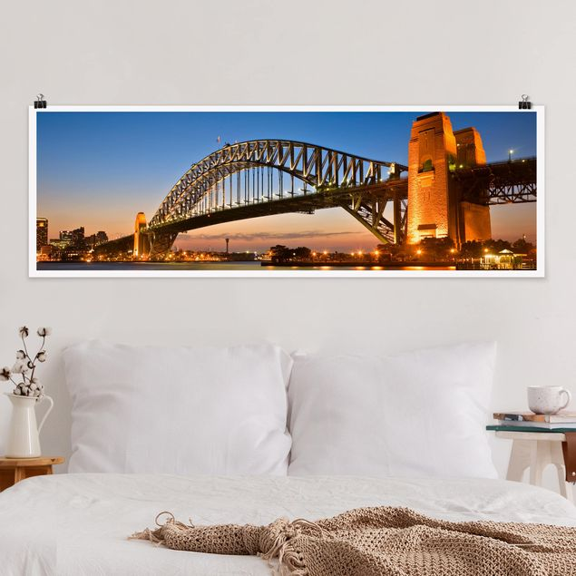 Poster - Harbour Brücke in Sydney - Panorama Querformat