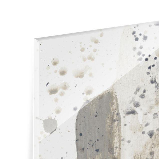 Glas Spritzschutz - Hommage an Taupe I - Quadrat - 1:1