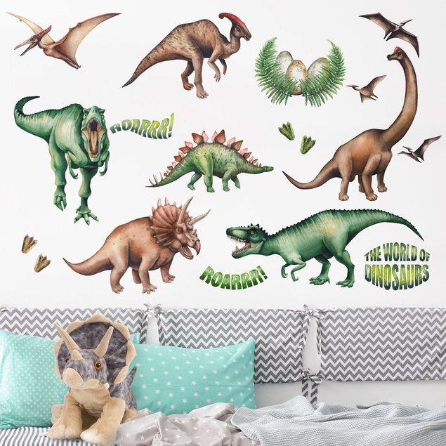 Wandtattoo - Die Welt der Dinosaurier