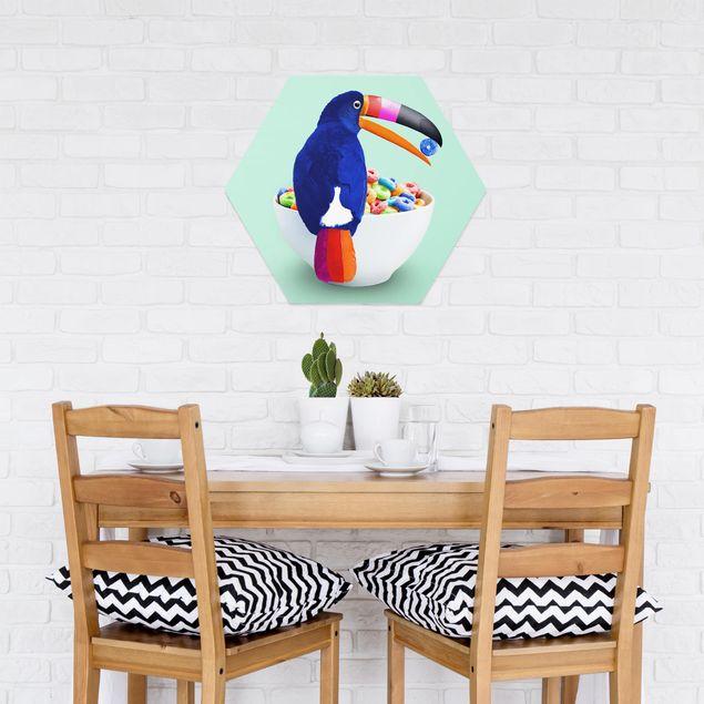 Hexagon Bild Forex - Jonas Loose - Frühstück mit Tukan