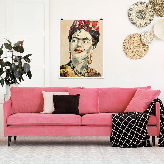 Poster - Frida Kahlo - Collage No.2 - Hochformat 3:4