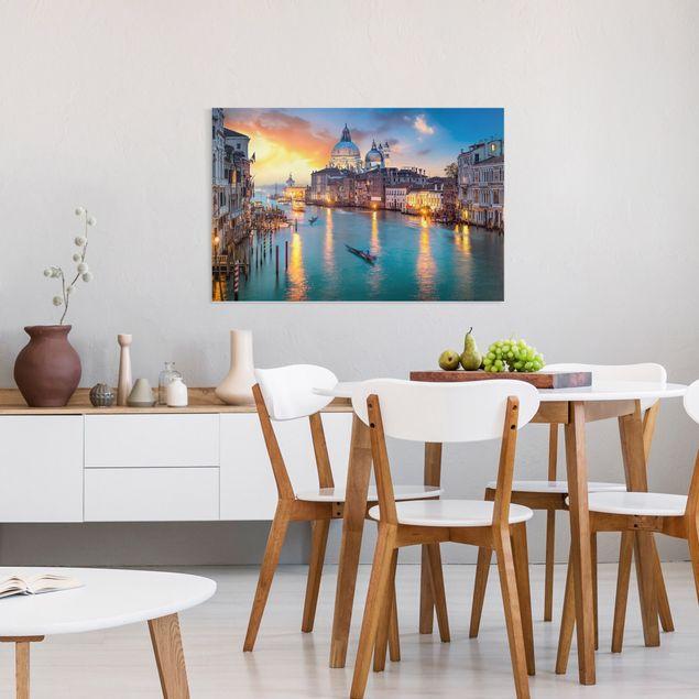 Leinwandbild - Sunset in Venice - Querformat 3:2