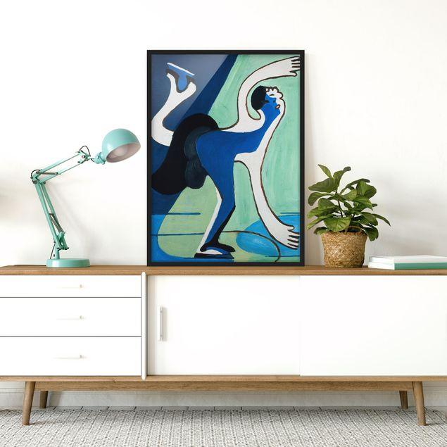Bild mit Rahmen - Ernst Ludwig Kirchner - Eisläuferin - Hochformat 3:4