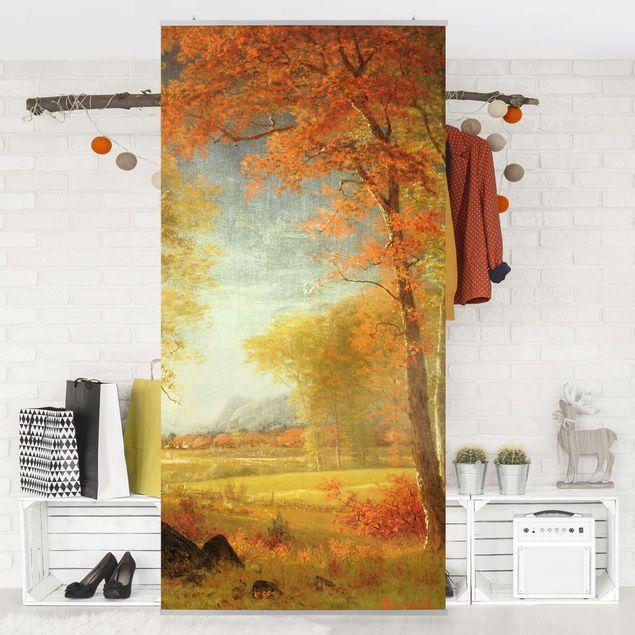 Raumteiler - Albert Bierstadt - Herbst in Oneida County, New York - 250x120cm