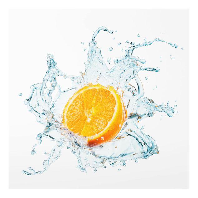 Glas Spritzschutz - Frische Orange - Quadrat - 1:1