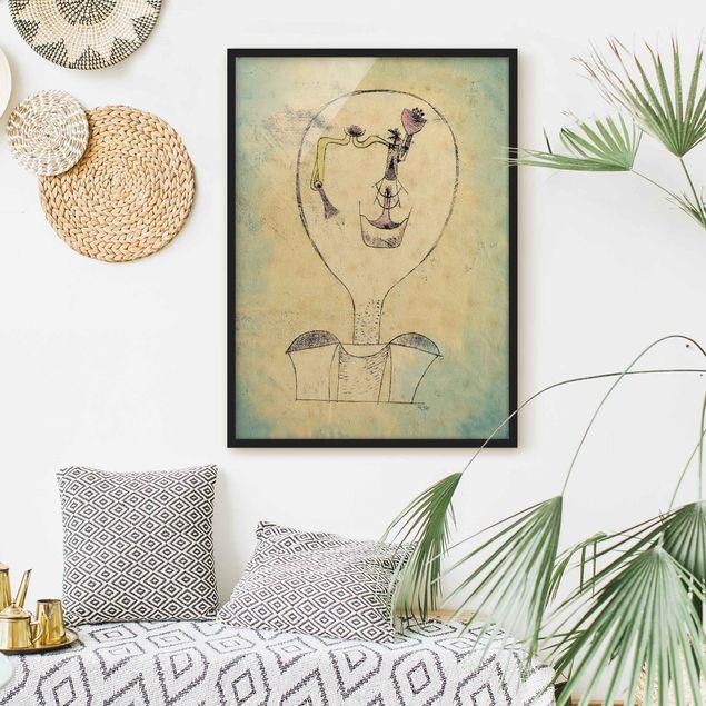 Bild mit Rahmen - Paul Klee - Die Knospe - Hochformat 3:4