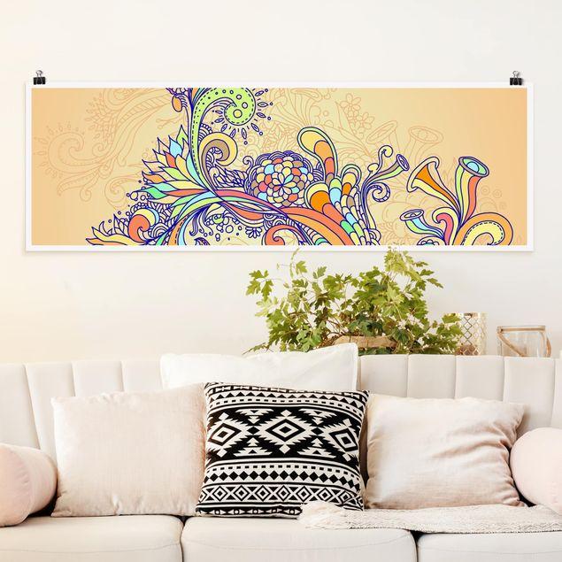 Poster - Sommerillustration - Panorama Querformat