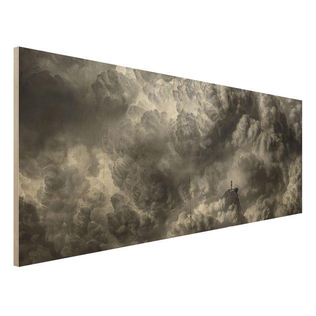 Holzbild - Ein Sturm zieht auf - Panorama