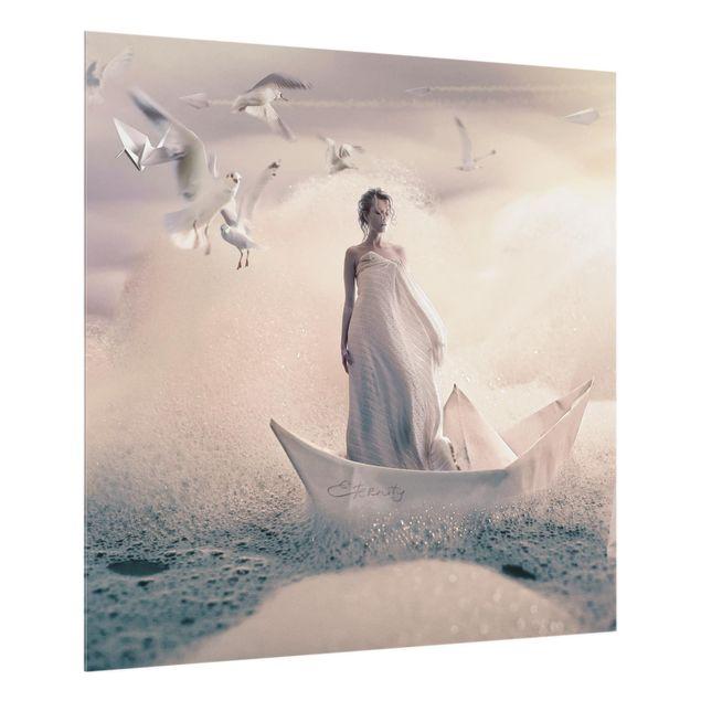 Glas Spritzschutz - Eternal Journey - Quadrat - 1:1
